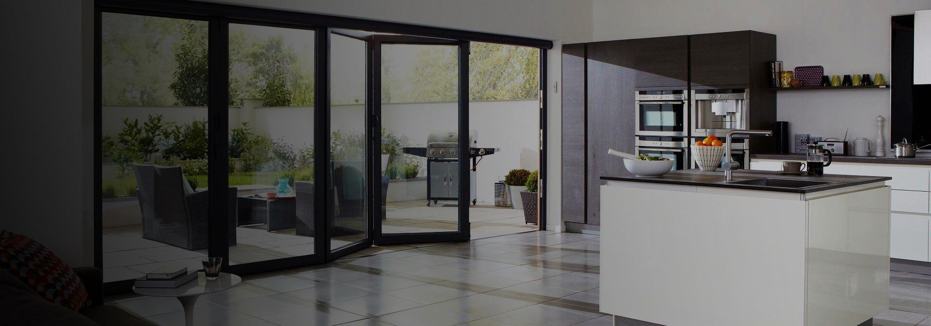 aluminium glazed door