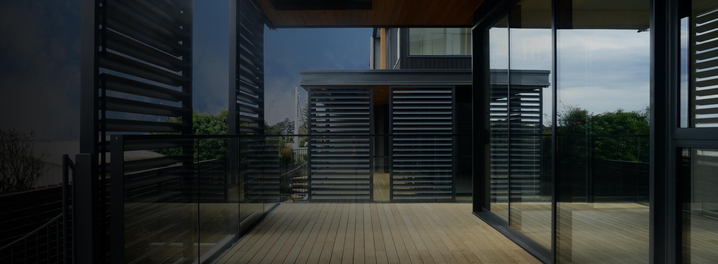 aluminium privacy screens louvres