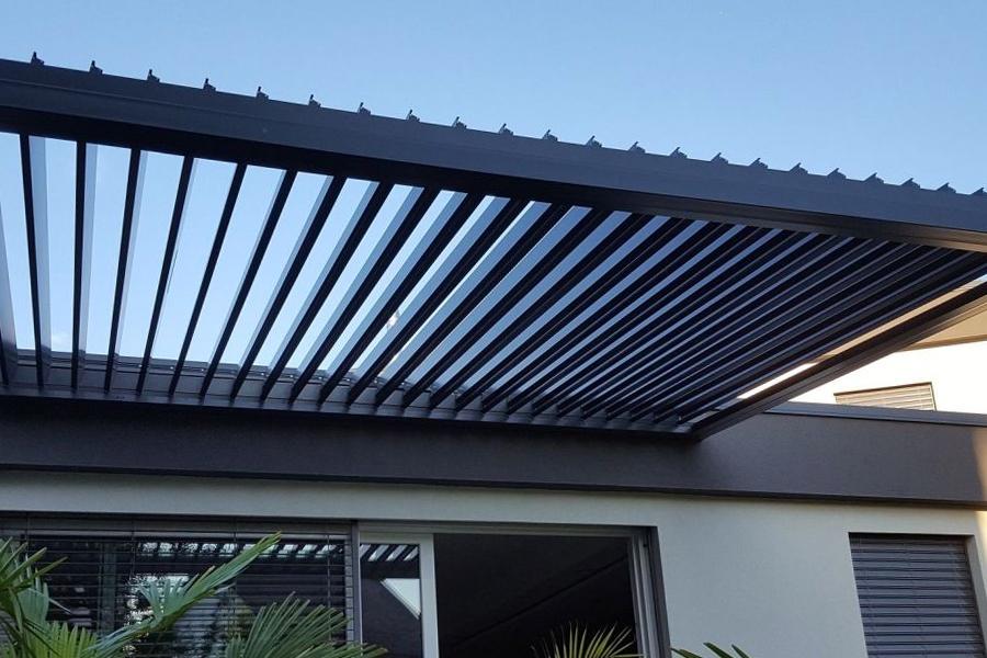 aluminium slat roof