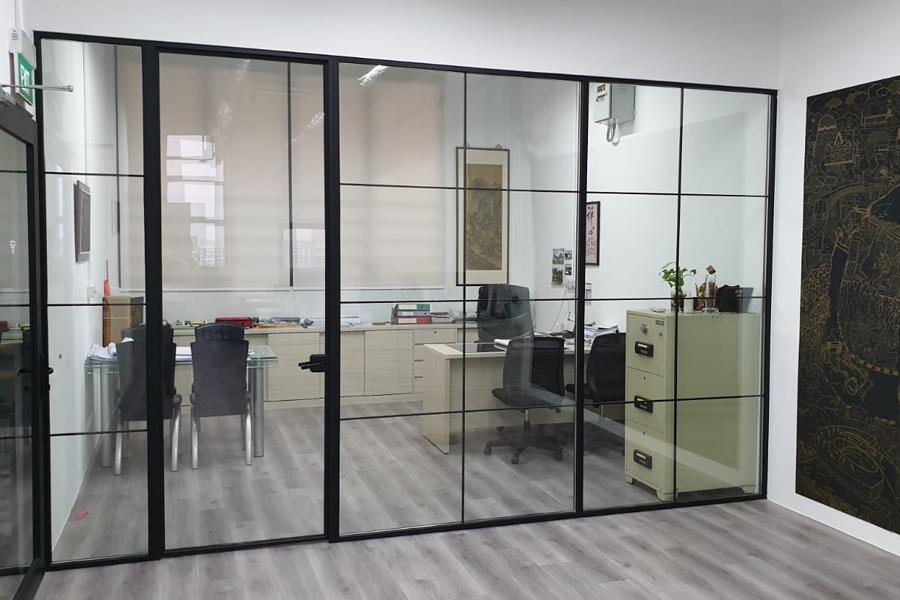 aluminium sliding door office