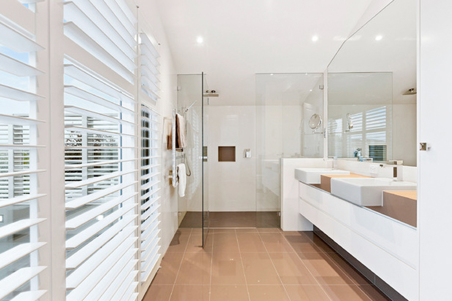 bathroom privacy louvres