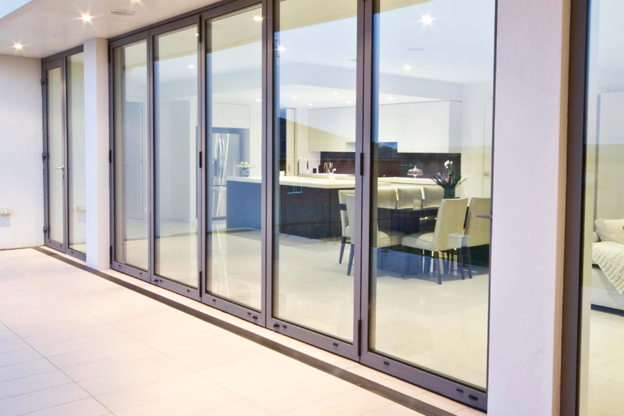 commercial bifold glass door