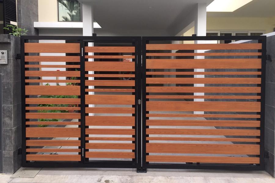 contemporary aluminium gate