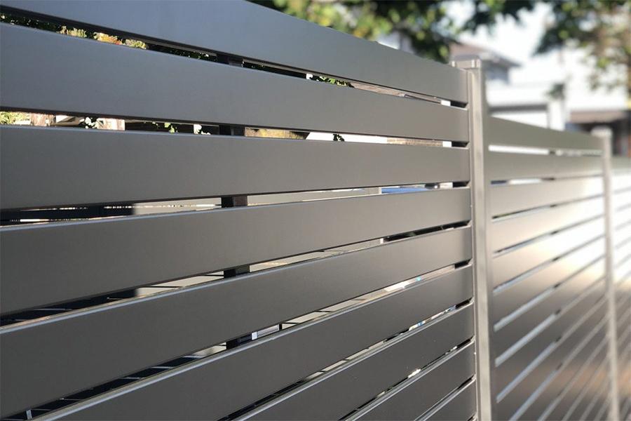 detail slat fence