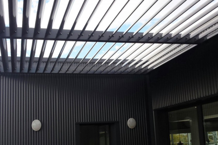 entrance louvre roof