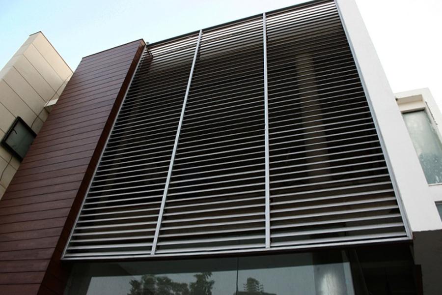 exterior aluminium screen
