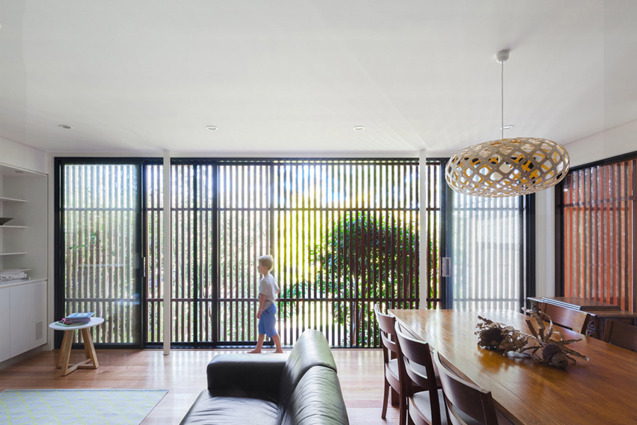 slatted window screen